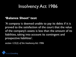 Construction Insolvency